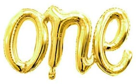 Hippity Hop Gold One Balloons Banner;Foil Mylar Balloon for 1st Birthday Party;Baby Shower;Wedding;Engagement;Anniversary Party Script Balloon