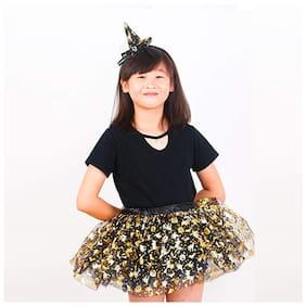 Hippity Hop Girl's Halloween Tutu Ballet Skirt (Multicolour;Free Size)