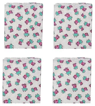 Hippity Hop Bedsheet for Single Bed Character Printed Bhagalpuri Material Bedsheet Shawl (Peppa Pig)