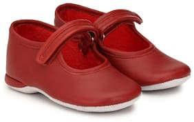 Hirel's Red Girls Casual Shoes