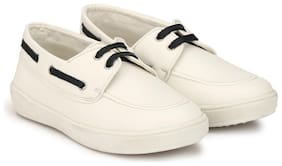 Hirel's White Boys Casual shoes