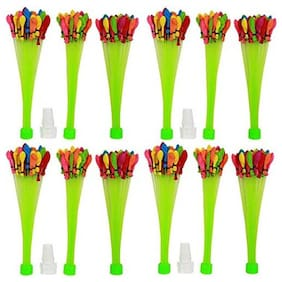 HK Balloons Original Holi Water Balloons / Multcolor Magic Water Balloon Maker - Fill & Tie The Whole Bunch of Water Balloons in Just 60 Seconds - No More Hassle ( Free TAP Nozzel) (Pack of 444)
