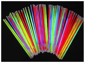 HKBalloons 100 Glow in The Dark Sticks Bands Premium Lumistick Bracelets Assorted Colors