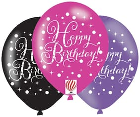 """HKBalloons Printed """"Happy Birthday """"Balloons  (Pack of 30)  Birthday Balloons For Decoration"""