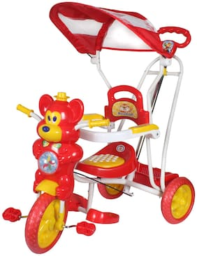 Hlx-Nmc Kids Fun Mouse Tricycle Cum Rocker Red/Yellow