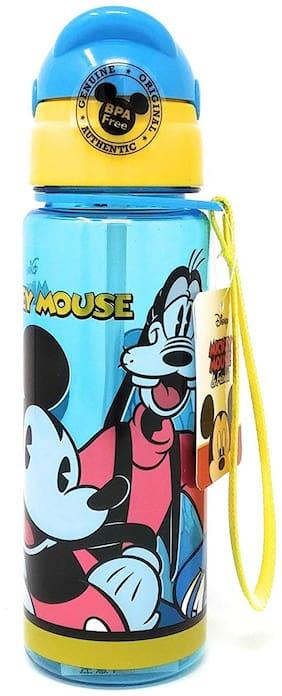 HM International Original Licensed Disney Mickey Mouse Kids Sleek Plastic Sipper Water Bottle