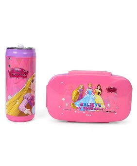 HMI Disney & Marvel Insulated Lunch Box and Water / Sipper Bottle Combo Set;BPA Free Thermoware (Disney Princess)