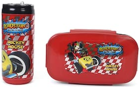 HMI Disney & Marvel Insulated Lunch Box and Water / Sipper Bottle Combo Set;BPA Free Thermoware (Disney Mickey Mouse)