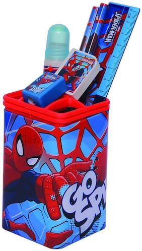 HMI Marvel Spider Man Pen Holder Set (Multicolor)
