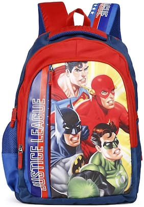 HMI Original Licensed Justice League 21 Ltrs Multi-Colour School Backpack (HMHISB 30704-JL)