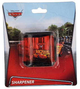 HMI Original Disney & Marvel Characters Double Hole Tub Pencil Sharpener;Pack of 4 pieces (Cars)