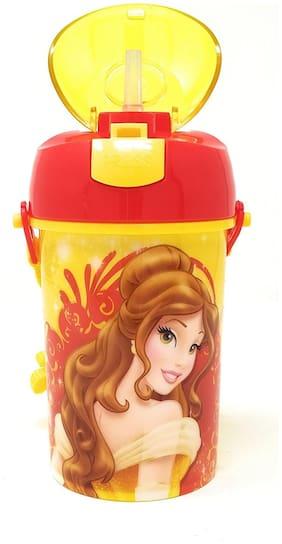 HMI GENUINE Licensed Disney Belle Princess Polypropylene Pop Up Canteen Sipper Bottle / Water Bottle;BPA free;450 ml