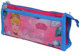 HMI GENUINE Disney Cinderella Princess Double Pocket Pvc & Polyester Pencil Bag Pouch