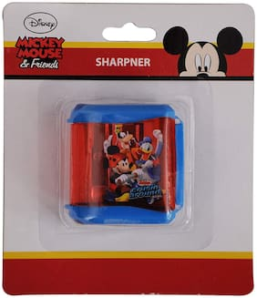 HMI Original Disney & Marvel Characters Double Hole Tub Pencil Sharpener;Pack of 4 pieces (Mickey Mouse Junior)