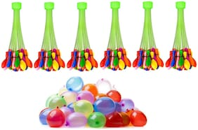Holi Water Balloon for Kids (6 Bunch Multicolor)