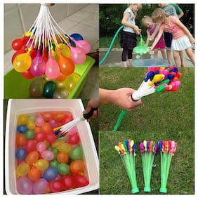 Holi Water Balloon 111 Magic Water Balloons Fill In 60 Seconds (Multicolor 3 Bunch)