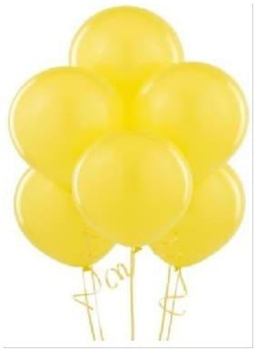 Homeshopeez Solid Balloon (Yellow  Pack Of 50)