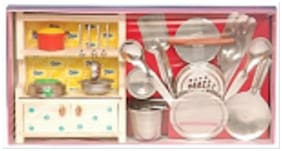 Homeshopeez Toy Kitchen Set (Small)(Color May Vary)