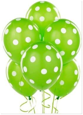 Homeshopeez Printed Balloon (Green  Pack Of 30)