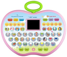 Honeybun Apple Educational Computer ABC and 123 Learning Kids Laptop with LED Display and Music