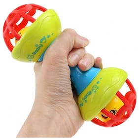 Honeybun Baby Dumbbell Rattle Tether Bell Toy for Babies