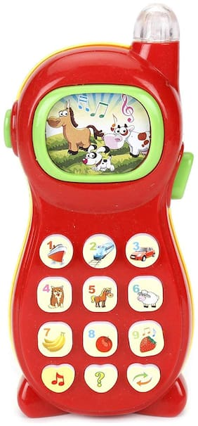 Honeybun Baby Learning Mobile Phone with LED Screen Music Telephone Cartoon Phone;Bright Colors