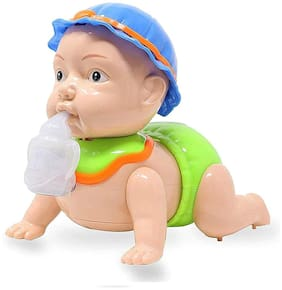 Honeybun Battery Operated Crawling Baby Toy with Light and Music for Kids