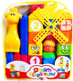 Honeybun Building Blocks Toy with a Packing Bag for Kids