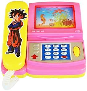 Honeybun Cartoon Telephone Musical Toy with Cartoon Moving Screen for Kids
