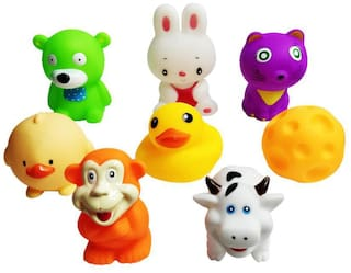 Honeybun Chu Chu Bath Toys for Baby Non-Toxic Toddler Set Multi Colour