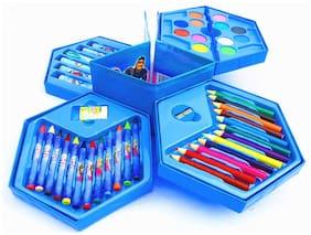 Honeybun Colours Box Colour Pencil;Crayons;Water Colour;Sketch Pens Set of 46 Pieces