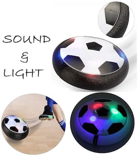 Honeybun Indoor Air Power Soccer Kids Football Disk with Foam Bumpers and Light up led Light.