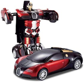 Honeybun Latest Power Battery Operated Converting Car to Robot;Robot to Car with Light and Sound for Kids
