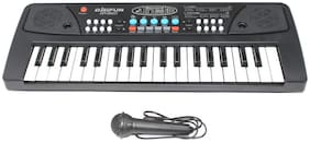 Honeybun Learning Melody Mixing 37 Key Electronic Music Piano Keyboard with DC Power Option;Recording Function and Mic to Sing