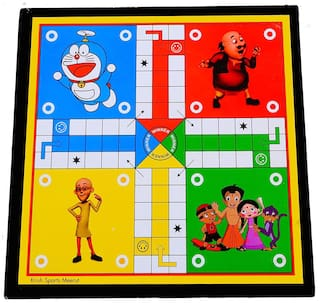 Honeybun Ludo & Snakes and Ladders 2 in 1 Board Games Strategy Family Fun time