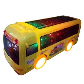 Honeybun Q-Bus Play with 3D Light with Light and Sound Musical;Bump and GO Multicolor