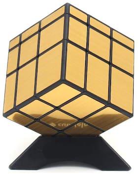 Honeybun QiYi 3x3 Mirror Cube Golden Speed Cube Magic Cube Puzzle Toy
