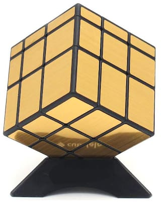 Honeybun QiYi 3x3 Mirror Cube Golden Speed Cube Magic Cube Puzzle Toy