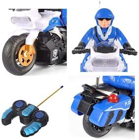 Honeybun Rc Police Patrol Motorcycle Remote Control Motor Bike for Kids
