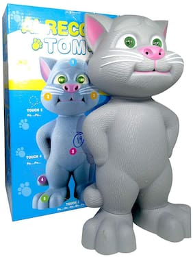 Honeybun Talking Tom Cat Toy for Kids Speaking Repeats What You Say - Birthday Gift for Boy and Girl