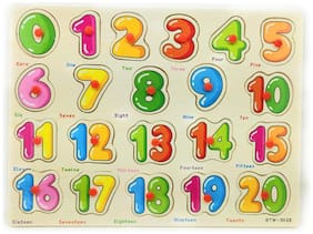 Honeybun Wooden Counting Colorful Learning Educational Puzzle Board