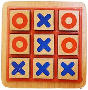Honeybun Wooden - Tic Tac Toe Game for Kids