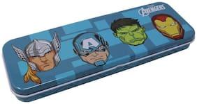 HOOM by HMI Original Marvel Avenger Blue/ Black Metal Pencil Box