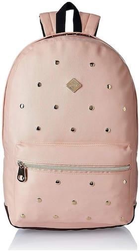 HOOM Classic Faux Leather;Leather Peach Unisex Laptop Bag