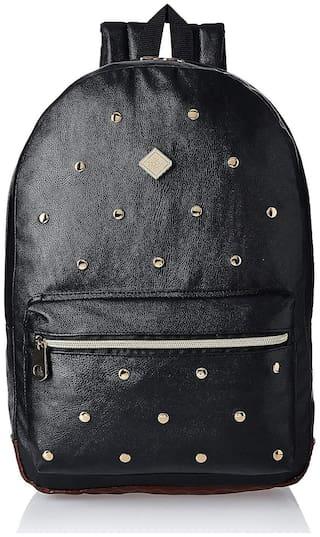 HOOM Classic Faux Leather;Leather Black Unisex Laptop Bag
