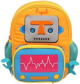 HOOM Polyester Orange School Bag