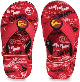 HOT WHEELS Kids Boys RED FLIP-FLOPS