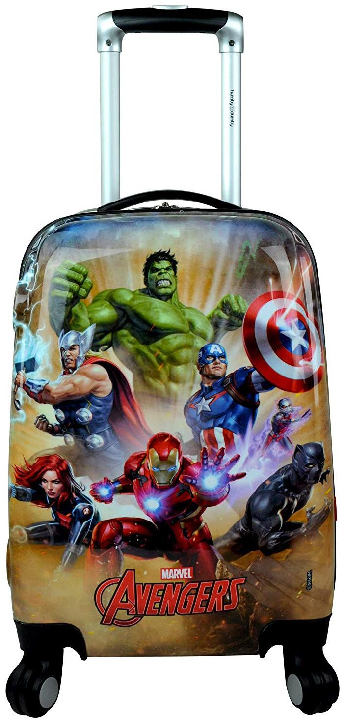 Humty Dumty Avengers Polycarbonate 18 inch / 45.7 cm Kids Hard Luggage Trolley Bag | Travel Bag by High Spirit Retail India