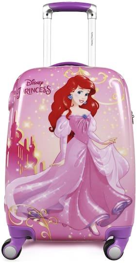 Humty Dumty Disney Ariel Pink Polycarbonate 18 inch / 45.7 cm Kids Hard Luggage Trolley Bag | Travel Bag
