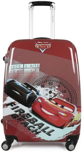 Humty Dumty Disney HD Cars Red Polycarbonate 18 inch / 45.7 cm Kids Hard Luggage Trolley Bag | Travel Bag